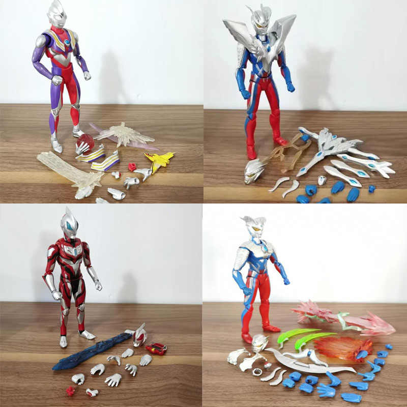 Shf Anime Ultraman Nul Geed Tiga Masked Rider Kamen Rider Gelede Collection Action Figure Model Speelgoed