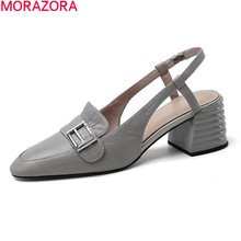 MORAZORA 2020 new arrival women pumps genuine leather simple high heel