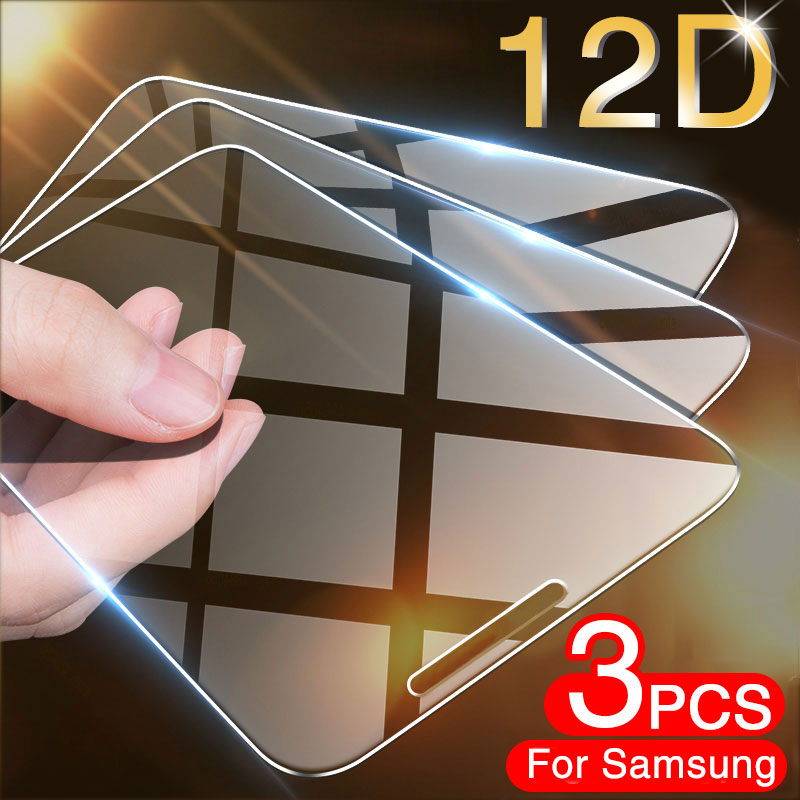3Pcs Tempered Glass for Samsung Galaxy A7 2017 A8 A9 A5 A6 Plus A750 2018 Screen Protector Glass for Samsung J7 J5 J4 J6 J8 Film