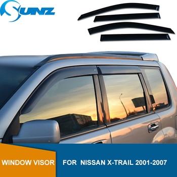 цена на Side Window Deflectors For Nissan Rogue Xtrail X-trail T30 2001 2002 2003 2004 2005 2006 2007 Sun Rain Deflector Guards SUNZ