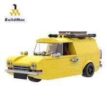 Buildmoc 1981 Klassische TV EIN Nur Fools und Pferde Reliant Regal Technische Auto Stunt Fahrzeug Bausteine Spielzeug Für Kinder geschenk