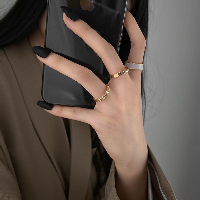 2020 nuovi anelli di apertura in tre pezzi in stile gotico per donna moda gioielli coreani anello Sexy per la festa nuziale europea e americana 2