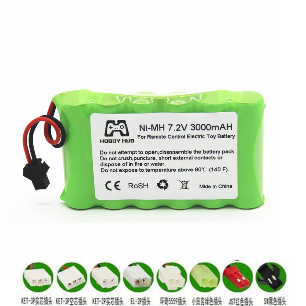 7.2v AA 3000mah 2800mah Rechargeable Battery For Remote Control Electric Toy Boat 7.2 V 2400 Mah Aa Nimh Battery