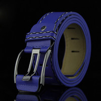 Fashion Mens Leather Smooth Girdle Buckle Waistband Waistband Leisure Belt Strap Leisure Belt Strap  Men's Belt  Multi-colored
