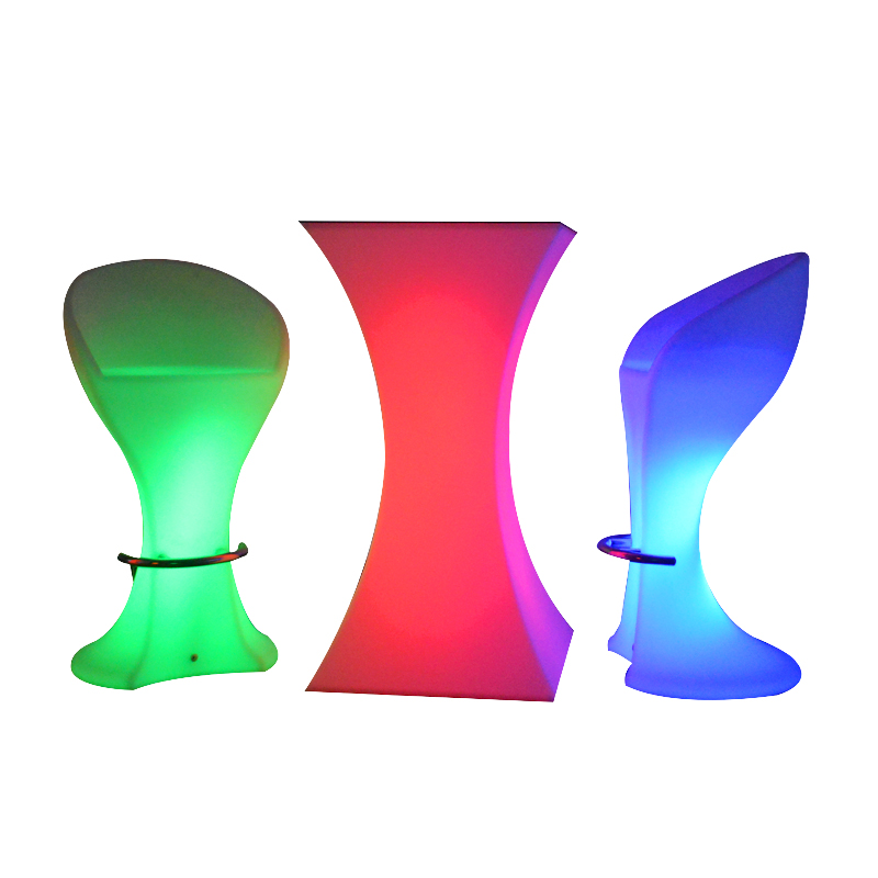 Illuminated High Night Club Bar Coffee Table Chairs Creative Scattered Colorful Small Waist Sillas Banqueta Cadeira Poltrona