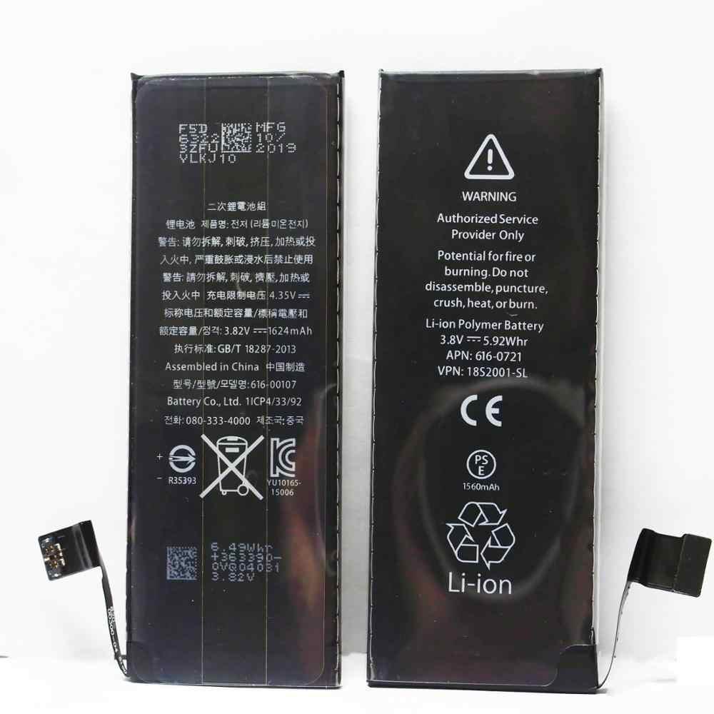แบตเตอรี่โทรศัพท์มือถือสำหรับ iPhone 5 iPhone 6 iPhone 7 แบตเตอรี่เปลี่ยน 7plu 8 8plus XS XR SE แบตเตอรี่ลิเธียมแบตเตอรี่
