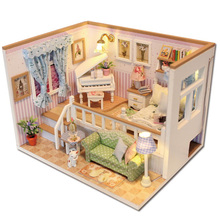Doll House Miniature Diy Dollhouse with Furnitures Wooden House Toys for Children Birthday Gift diy miniature doll house casa toys dollhouse wooden model with 3d led furnitures house for dolls handmade toys for children e