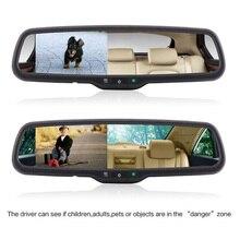 """Автомобильное зеркало заднего вида 4,"""" 16:9 ЖК-экран монитор дисплей Автоматическое затемнение с кронштейном+ камера Автомобильная камера заднего вида"""