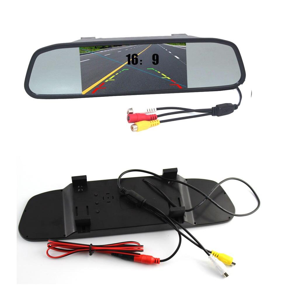 "Car Monitor 4.3"" Color Tft LED Car Rearview Mirror 480*240 16:9 Screen 12v for Car Dvd Rear View Camera Vcr|Car Monitors| |  - title="