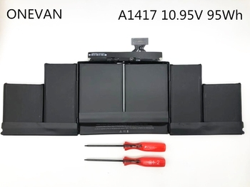"""ONEVAN  95Wh 10.95V A1417 Battery For Apple Macbook Pro 15"""" Inch A1398 Mid 2012 Early 2013 Retina MC975LL/A MC976LL/A MD831LL/A"""
