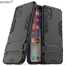 For iPhone 11 Pro Max Case Robot Armor Shell Hard PC TPU Phone Cover for Protective