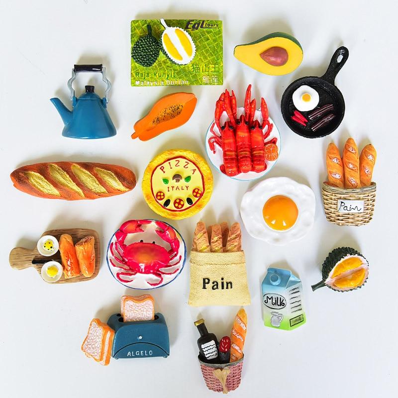 Bionic холодильник для пищи, паста, мультфильм, милый, нордический, ins, магнитная паста, 3d Личность, креативные магниты на холодильник, украшения, подарки|Магниты на холодильник|   | АлиЭкспресс - Прикольные магниты на холодильник