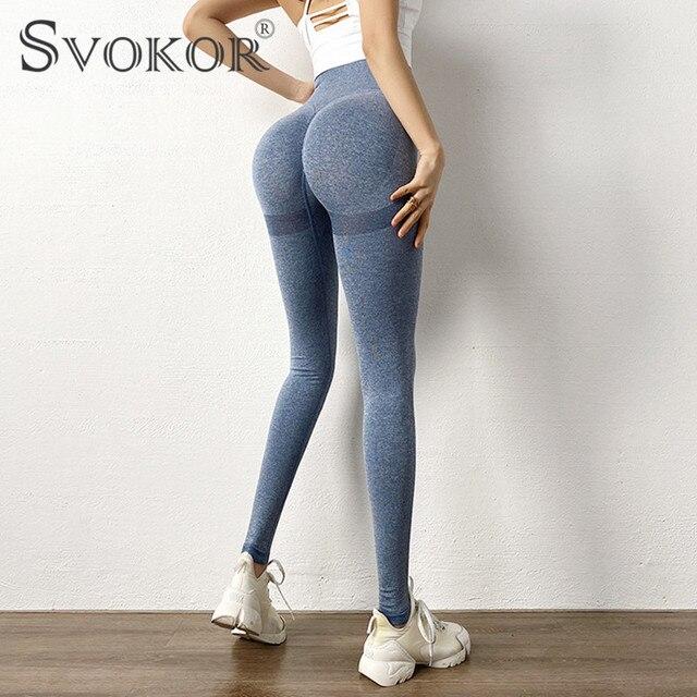 SVOKOR Spring Workout Leggings Women Seamless High Waist Fitness Leggins Female Gym Sexy Perfect Fit Legging Bubble Butt 3