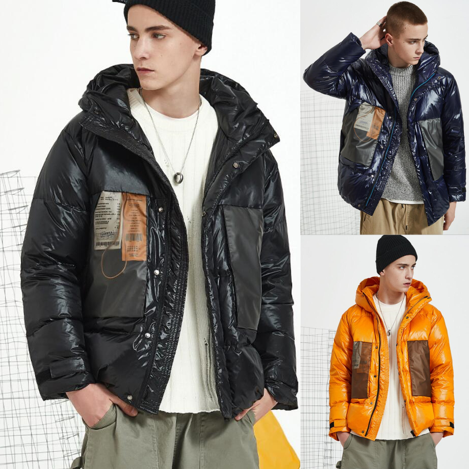 2019 High quality Fashion man ski jacket winter outdoor warm coat zipper waterproof snow suit hooded M-XXL