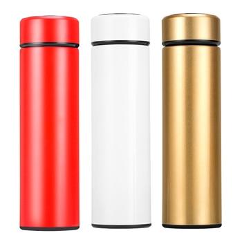 Intelligent Temperature Display Insulate Thermos Strainer Mug Tea Mug Coffee Cup Thermal Bottle Vacuum Flask Stainless Steel