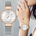 Женские часы NAVIFORCE Топ люксовый бренд сталь сетка водонепроницаемые женские часы цветок кварцевые женские наручные часы очаровательные ча...