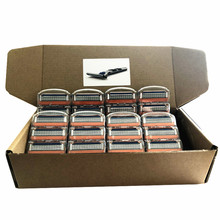 Custom Made Packing Box Gillette Fusion Men Razor Blades Replacement Blade 5 Layers Men Face Care Straight Razor 32pcs/Box