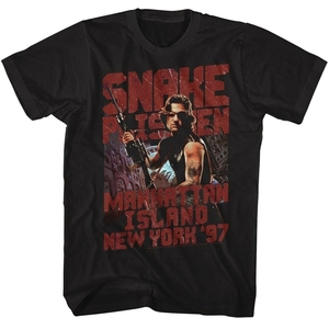 Escape From New York Snake Plissken Black Adult T-Shirt(China)