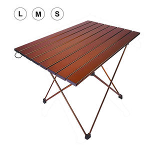 Hooru Backpacking Desk Folding Table Lightweight Picnic Fishing Outdoor Beach Camping