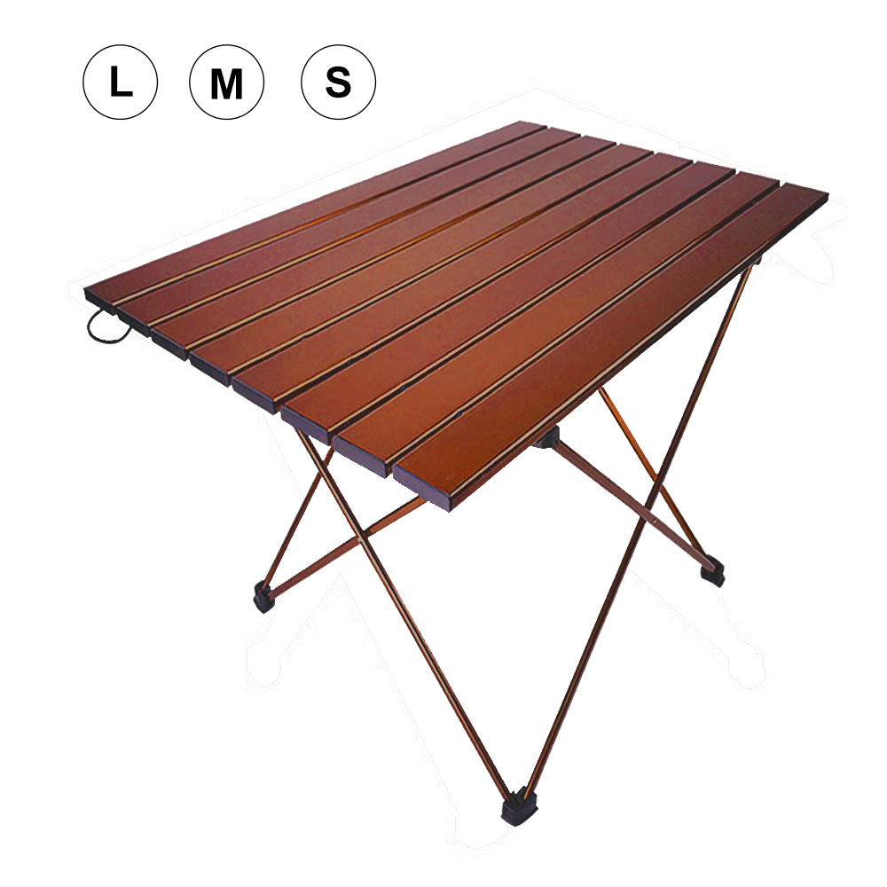 HooRu Portable Aluminum Table Picnic Beach Fishing Folding Table Outdoor Lightweight Backpacking Camping Desk With Carry Bag