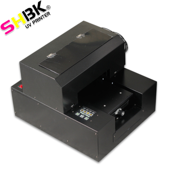 SHBK. A4 size for glass wood plastic pvc metal acrylic flatbed LED UV printer with epson printhead,Mobile phone case printer