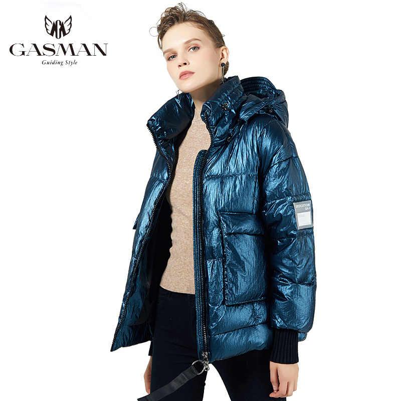 GASMAN 2019 새로운 겨울 자 켓 여성 두꺼운 코트 패션 여성 따뜻한 자 켓 짧은 Hight 품질 여성 겨울 옷 19006