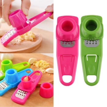Creative Eco-Friendly Simple Multi-Function Garlic Ginger Press Crusher Chopper Slicer Kitchen Hand Tool Grinder Vegetable Tools image