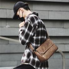 2020 new fashion portable original pu simple design men's shoulder bag design crossbody bag