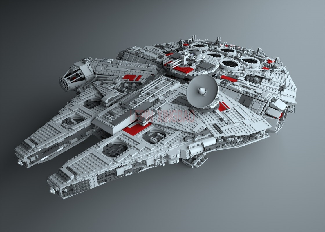 Millennium Falcon Lepin 8445pcs Compatible 75192 Star wars Series Ultimate Collectors Model Building Bricks Toys 51