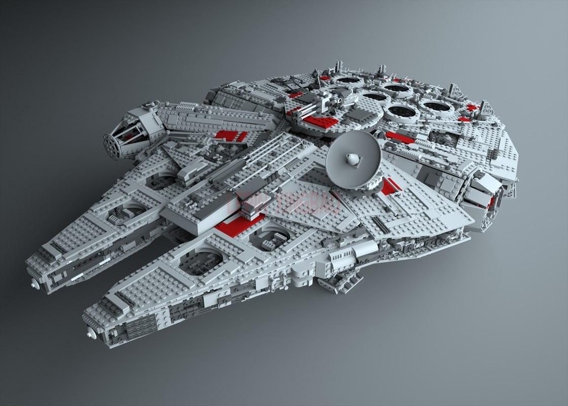 Millennium Falcon Lepin 8445pcs Compatible 75192 Star wars Series Ultimate Collectors Model Building Bricks Toys 51