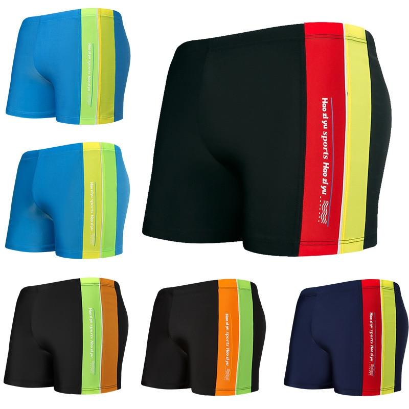 CHILDREN'S Swimming Trunks Comfortable Korean-style Boxer Fashion Printed Children Big Kid Beach Swimming Quick-Dry Boy Shorts W