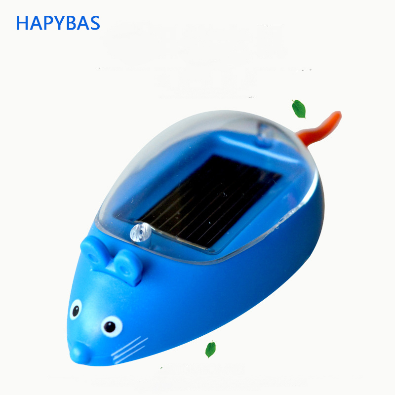 Kids Solar Toys Power Energy Solar Mini Mouse Black Children Teaching Fun Gadget Toy Gift For Kids Solar Energy Toys