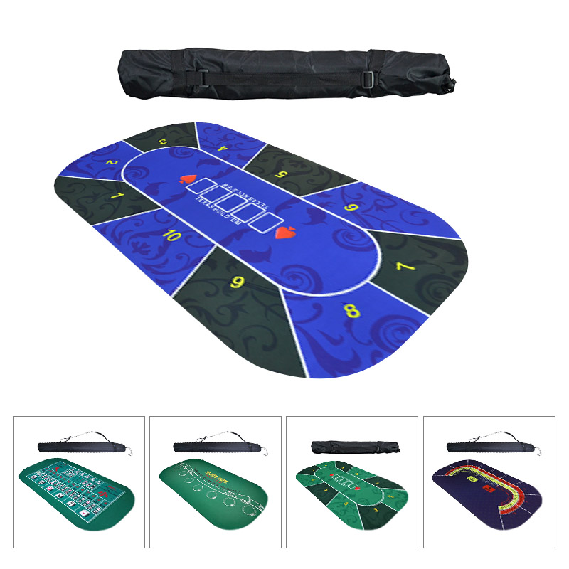 1.2m Texas Hold'em Poker Mat Suede Rubber Table Cloth Table Top Digital Print Casino Poker Board Game Poker Chip Desk Pad Sic Bo