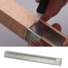 Woodworking 180mm Bend Rules Marking Rule Scriber for Dual-Surface Layout Ruler