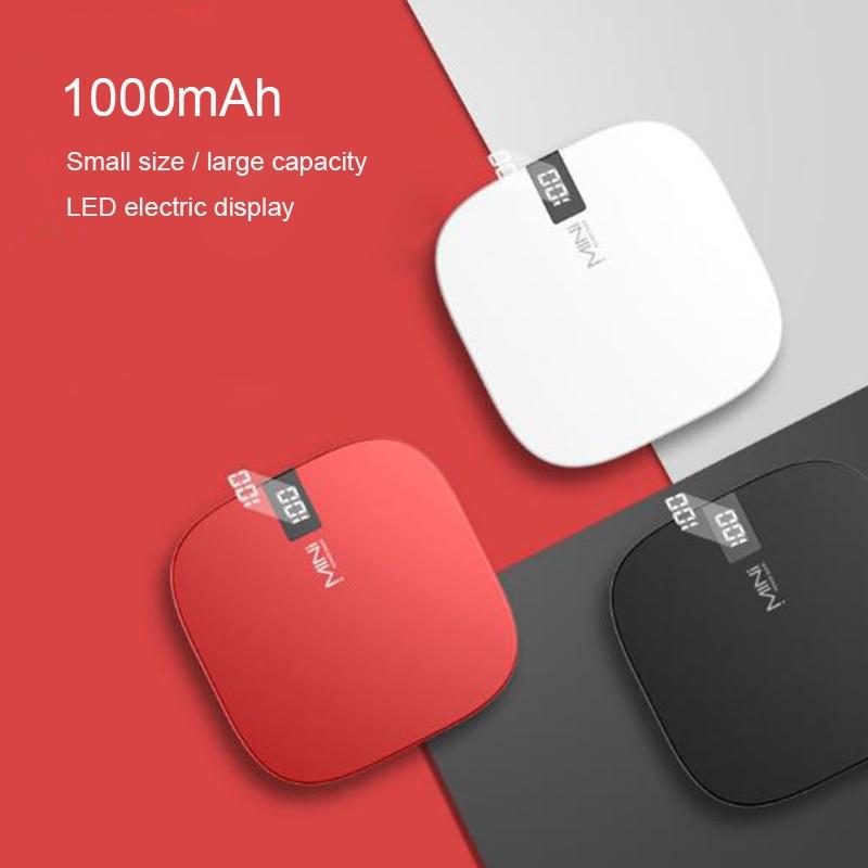 10000 mAh mini power bank double USB fast output portable charging treasure Type-C&Lighting fast input Digital display powerbank