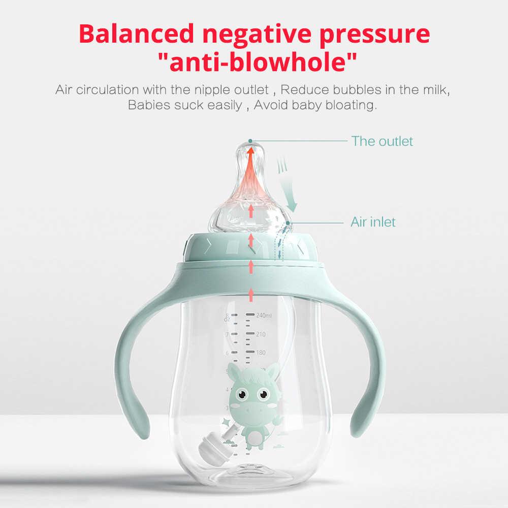 เด็กขวดดื่มถ้วยให้อาหารขวดกว้างCalibre Multifunctionalดื่มนมดื่มน้ำDual-ใช้ขวดBPAฟรี