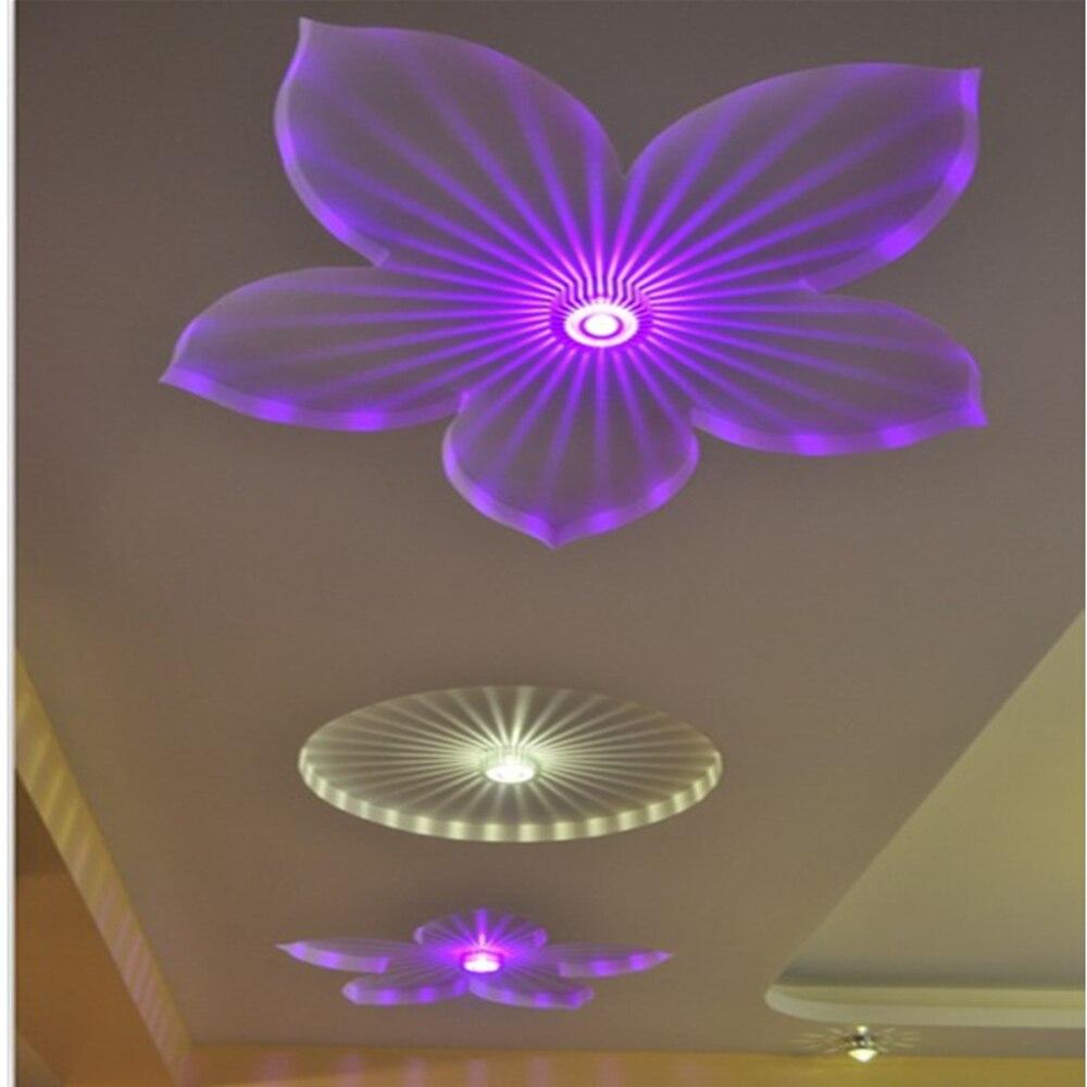 Modern Led Lights Aluminum Art Novelty Wall Lamp Blue Green Living Room Bedroom KTV Bar Creative Decoration Light