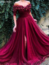 Бургундия платье выпускного вечера 2020 Половина рукава с открытыми
