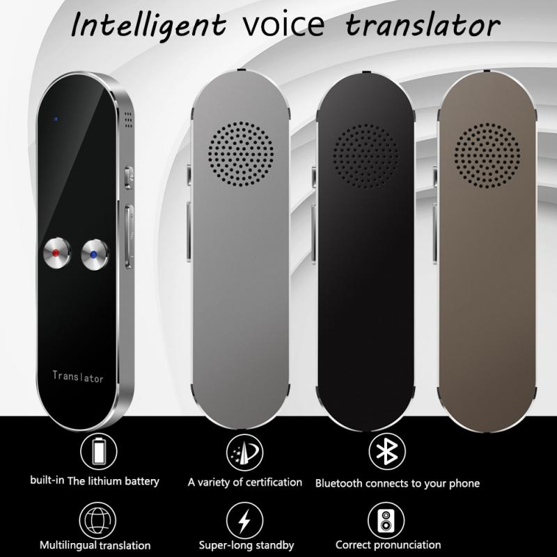K8 Portable Smart Voice Translator Two-Way Real Time 68 Multi-Language Translation For Learning Travelling Meet For Android IOS