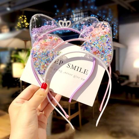 Cute Cat Ears Headband Baby Girls Hairbands Korean Children Princess Kids Hair Accessories Scrunchie Christmas Gift Pakistan