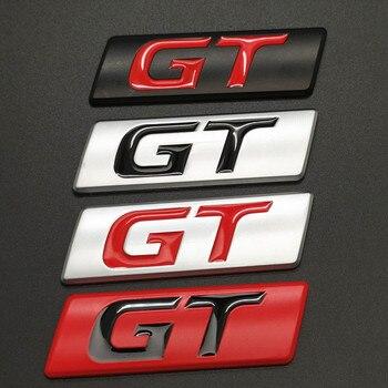 Car Sticker GT Badge Emblem Decals for Peugeot 206 208 207 308 508 3008 5008 KIA Forte Optima Picanto Stinger Sorento Renault
