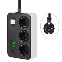 Filtro di rete Smart USB presa multipresa spina ue 3 presa 3USB porta 1.8M prolunga presa adattatore presa multipla