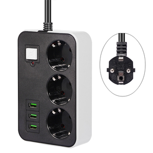Image 1 - Network Filter Smart USB Power Strip Socket EU Plug 3 Socket 3USB Port 1.8M Extension  Socket Cord  Multi Plug Socket Adapter