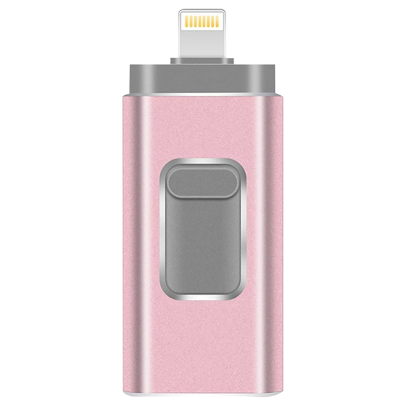 3 In 1 OTG USB Flash Drive 8GB 16GB U Disk 32GB 64GB Metal Pendrive 128GB Memory Stick For IPhone/iPad/Android/PC Usb 3.0