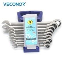9 pces chaves conjunto casa ferramentas chave de torque alto catraca conjunto de chaves para ferramentas manuais mecânicas de automóveis com cremalheira de plástico portátil