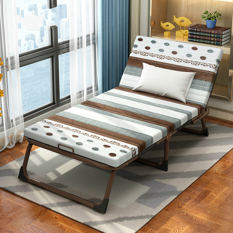 Folding Bed Single-person Multifunctional Household Lunch-bed Chair Simple Office Adult Noon Bed