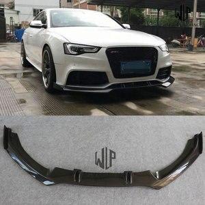 A5 RS5 Car styling alta calidad fibra de carbono separador de parachoques delantero car body kit para Audi A5 RS5 2D 4D 12-16