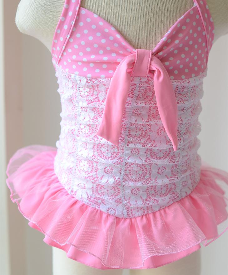 Micro Children Baby Pink Mermaid Cute Lace Dance Dress-Little Princess