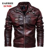 2019 Men's Natural Real Leather Jacket Men Motorcycle Hip Hop Biker Winter Coat Men Warm Genuine Leather Jackets plus size 3XL