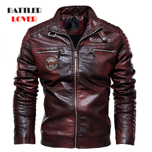 2019 Mens Natural Real Leather Jacket Men Motorcycle Hip Hop Biker Win